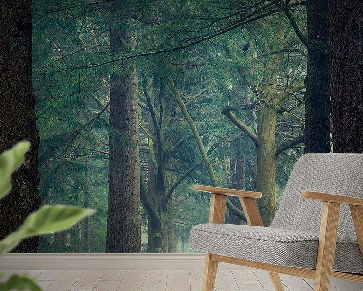 Sfeerimpressie behang: Portal through the forest van Mark Vredeveld