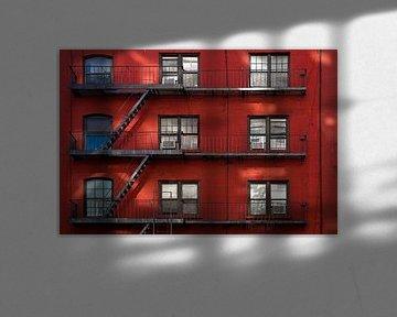 New York Rode Gevel van JPWFoto
