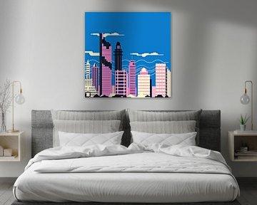 City slyline no.4 von PictureWork - Digital artist
