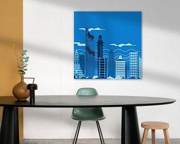 City skyline no. 5 van PictureWork - Digital artist