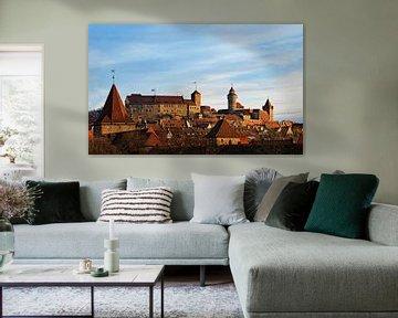 Blick auf die Nürnberger Burg in der Morgensonne von Andre Sinzger