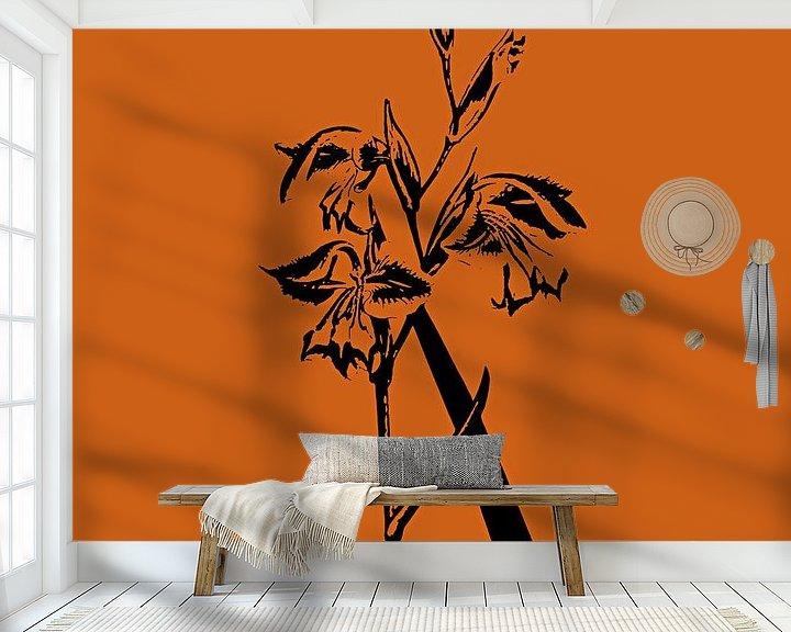 Beispiel fototapete: Flower two von PictureWork - Digital artist