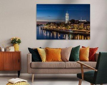 Deventer Skyline tijdens het blauwe uur