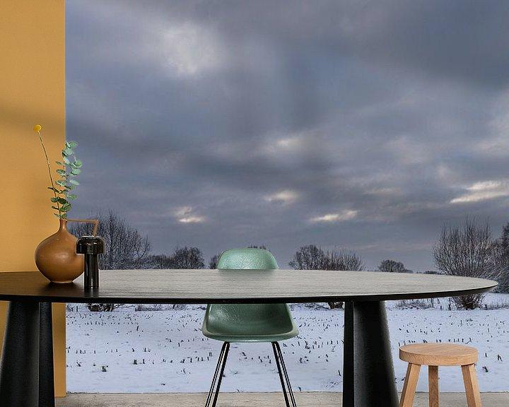 Sfeerimpressie behang: a winter landscape van Koen Ceusters