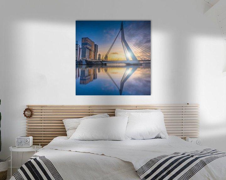 Sfeerimpressie: Rotterdam Sunset van Michel Jansen