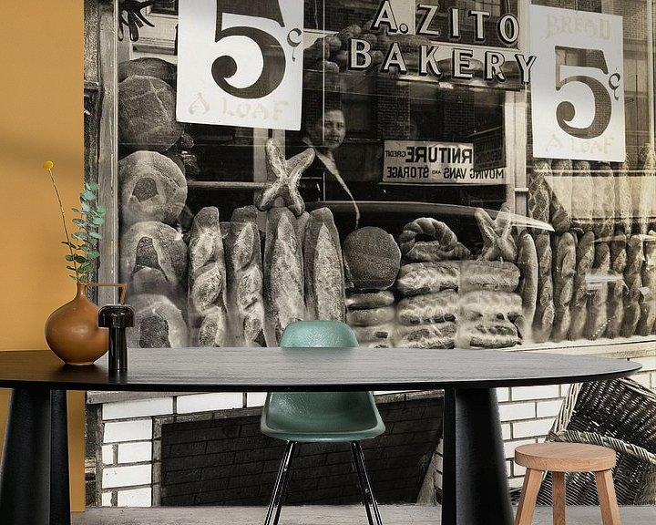 Sfeerimpressie behang: Zito's Bakery, 259 Bleecker Street van Vintage Afbeeldingen