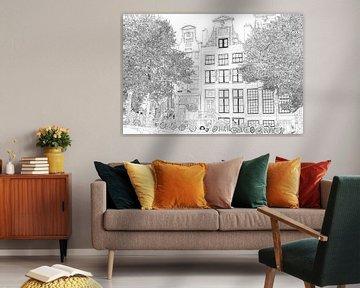 Zeichnung Herengracht 392 Amsterdam von Hendrik-Jan Kornelis