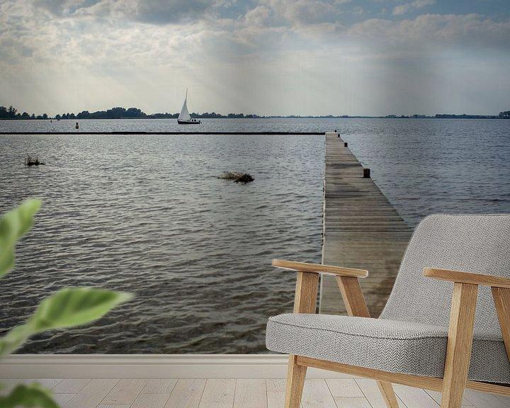 Beispiel fototapete: Vlonder und Boot von Anjo ten Kate