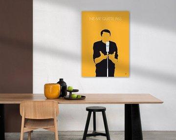 No234 MY JACQUES BREL Minimal Music poster van Chungkong Art