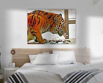 Sibirischer Tiger von Leopold Brix