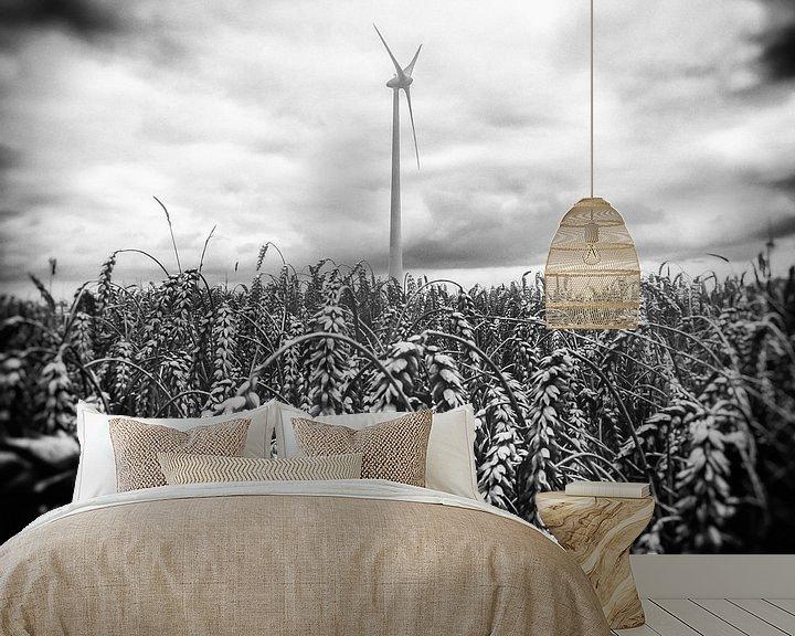 Sfeerimpressie behang: Windstil van Joep Oomen