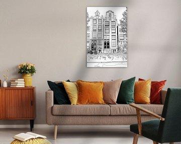 Zeichnung Brouwersgracht 48 Amsterdam von Hendrik-Jan Kornelis