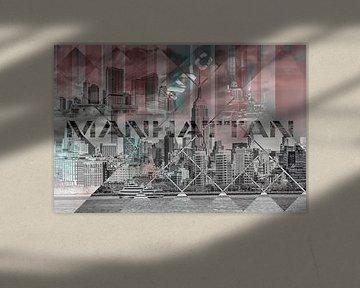 Modern Art MANHATTAN COLLAGE von Melanie Viola