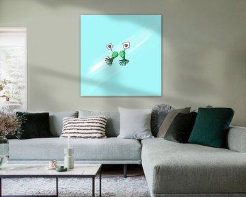 Tintenfish verliebt von Jeroen Win