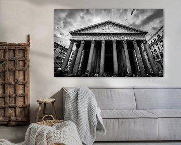Pantheon, Rom Schwarzweiß von Danny Leij