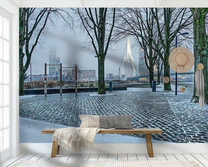 Sfeerimpressie behang: Leuvehoofdpark in februari van Frans Blok