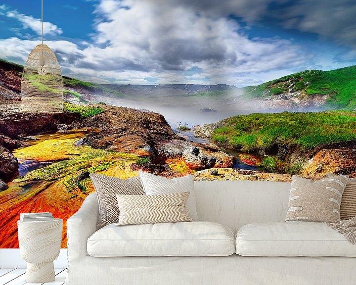 Beispiel fototapete: Warme Farben in Island von Ralf Lehmann