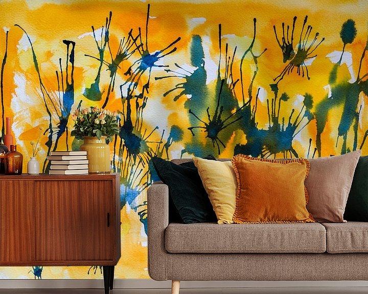 Beispiel fototapete: Lassen Sie uns verbinden | Abstrakte Aquarellmalerei von WatercolorWall