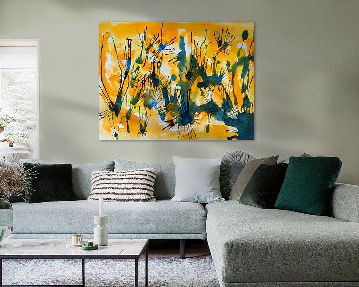 Beispiel: Lassen Sie uns verbinden | Abstrakte Aquarellmalerei von WatercolorWall