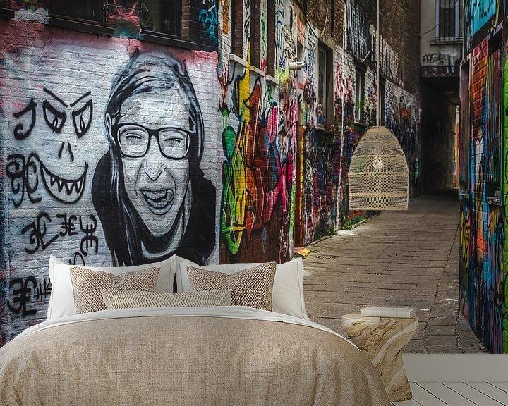 Sfeerimpressie behang: Grafitti van Erik de Boer