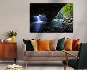Natural Bridge, Springbrook National Park, New South Wales, Australie van Willem Vernes
