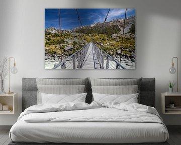 Hooker Valley Track, Mt Cook, Nieuw Zeeland van Willem Vernes