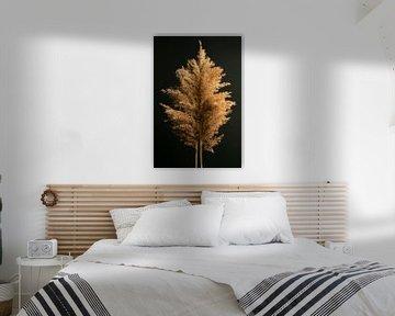 Een boom van een rietpluim van Joske Kempink