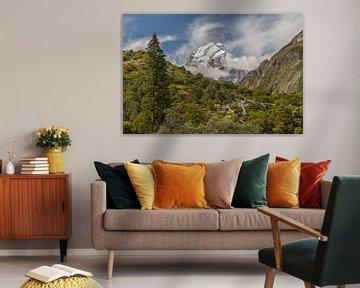 Mount Cook, Nieuw-Zeeland van Willem Vernes