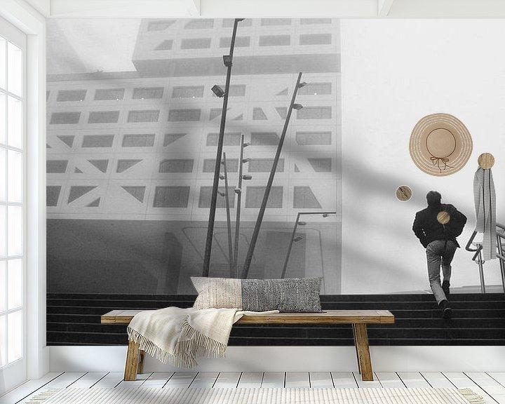 Sfeerimpressie behang: Op weg naar kantoor van Romuald van Velde