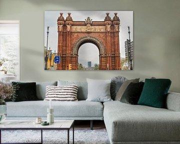 Arc de Triomphe in Barcelona von Sanne Lillian van Gastel