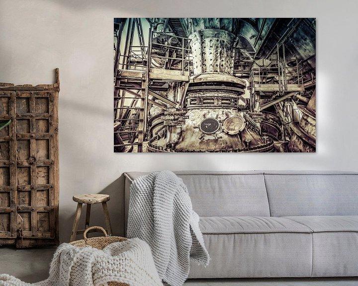 Beispiel: Machinerie van een hoogoven in retrolook von Okko Huising - okkofoto