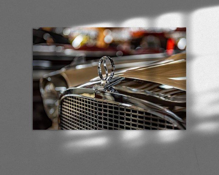 Sfeerimpressie: Grille en radiator ornament op een Studebaker van autofotografie nederland