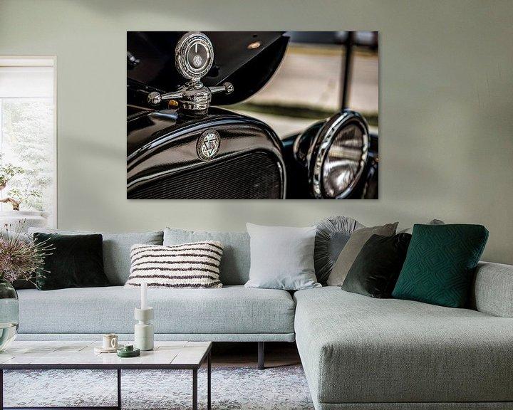 Sfeerimpressie: Grille logo en hood ornament van een Dodge Brothers Detroit USA van autofotografie nederland
