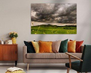Storm nabij Rocca d'Orcia van Damien Franscoise