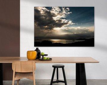 Zonsopkomst boven de Costa Smeralda - Sardinië van Damien Franscoise