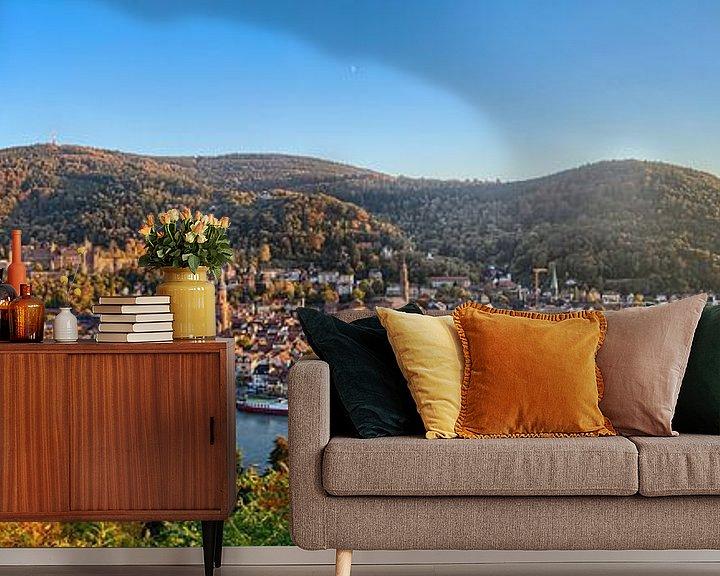 Beispiel fototapete: Heidelberg Panorama von Uwe Ulrich Grün