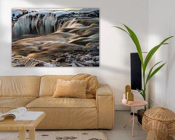 De waterval van de goden in Noord IJsland, Goðafoss van Gerry van Roosmalen