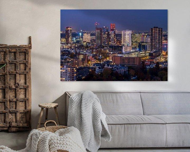 Sfeerimpressie: Skyline Rotterdam van Jeroen Kleiberg