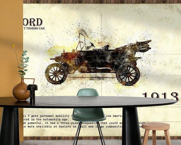 Sfeerimpressie behang: retro auto  stijlvolle van Ariadna de Raadt
