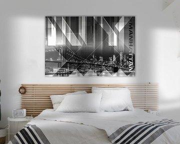 Modern Art BROOKLYN BRIDGE & SKYLINE von Melanie Viola