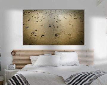 Voetafdrukken Strand van Danny Leij
