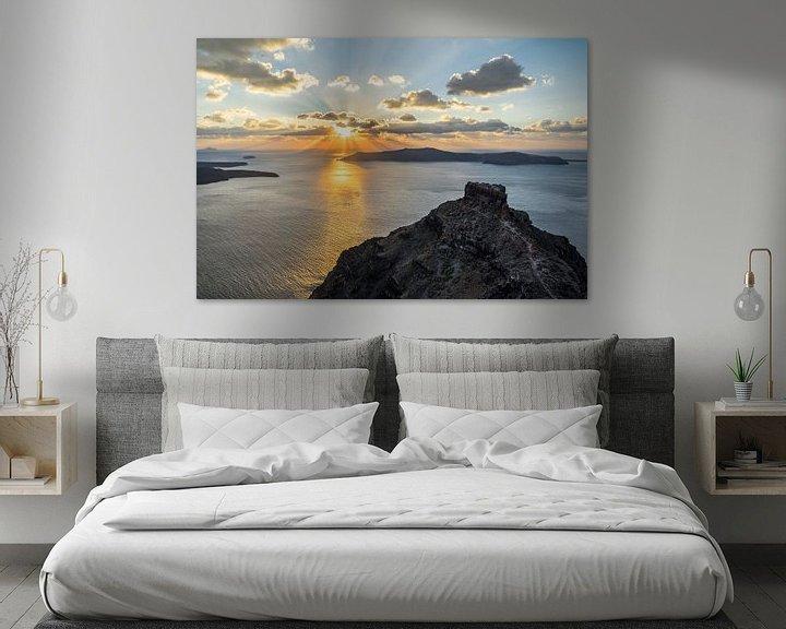 Beispiel: Strahlender Sonnenuntergang auf der Vulkaninsel Santorini von Ralf Lehmann