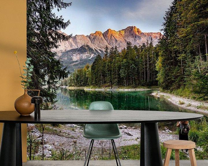 Beispiel fototapete: Alpenglühen auf der Zugspitze von Uwe Ulrich Grün