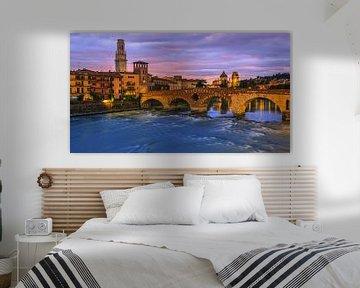Ponte-Pietra-Brücke, Verona, Italien