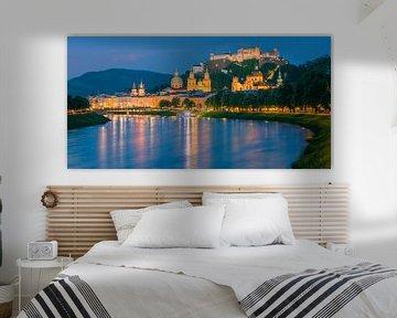 Hohensalzburg Fort, Salzburg, Oostenrijk van Henk Meijer Photography