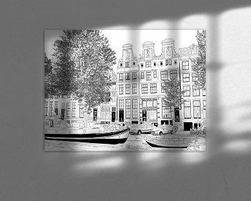 Tekening Herengracht 51-65 Amsterdam van Hendrik-Jan Kornelis