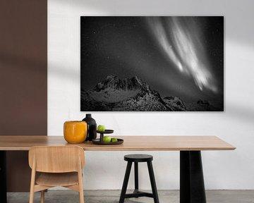 Nordlicht in Schwarz-Weiß von Koen Hoekemeijer