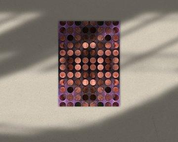 MELANGE of Blue-Coral-Rust no2b van Pia Schneider