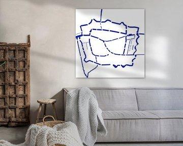 Waterkaart Leiden van Patrick Herzberg