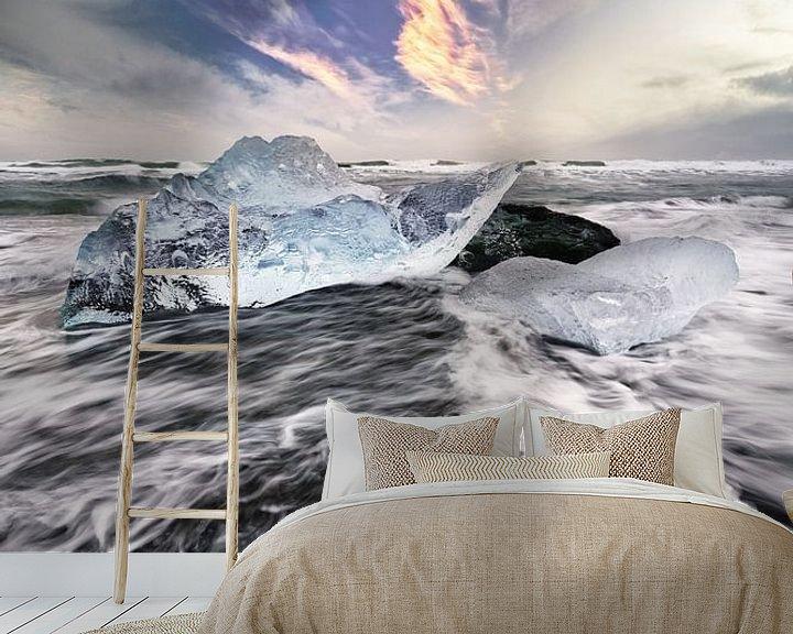 Beispiel fototapete: Eisblock und Wellen von Ralf Lehmann